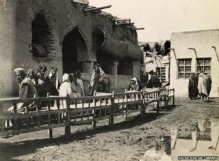 A coffee shop in Kuwait, 1918
