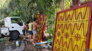 Gates being washed for sale