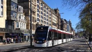 Tram on Princes Street