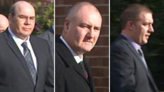 Left to right, Jan Kingshott, Michael Marsden and Simon Tansley