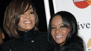 Whitney Houston (left) and daughter Bobbi Kristina Brown. Photo: 2011