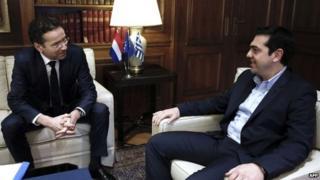 Jeroen Dijsselbloem meeting Alexis Tsipras - 30 January 2015