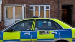 Police car in Saltash Road, Hull