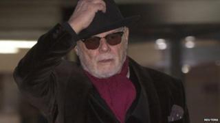 Gary Glitter leaving Southwark Crown Court