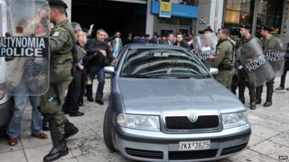 Anti-troika protest in Greece - file pic, 5 Nov 13