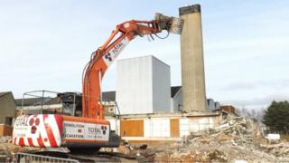 Bally factory demolition