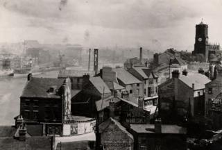 View of Gateshead looking NE (Bridge Street and Hillgate visible)