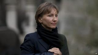 Marina Litvinenko leaves the Royal Courts of Justice after giving evidence