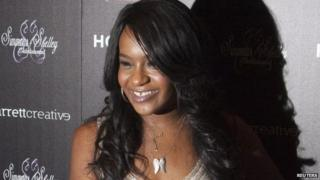 """Bobbi Kristina Brown attends the opening night of """"The Houstons: On Our Own"""" in New York, in this file photo taken October 22, 2012"""