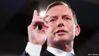 Australian Prime Minister Tony Abbott. 2 Feb 2015