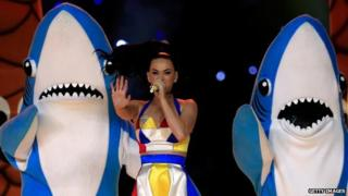 Katy Perry and her fishy backing dancers - #leftshark's odd moves captivated Twitter.