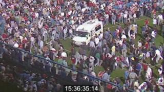 Ambulance at Hillsborough