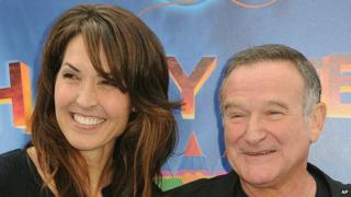 Robin Williams with his third wife Susan in 2011