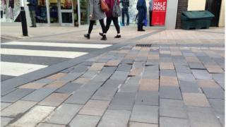 The wonky paving