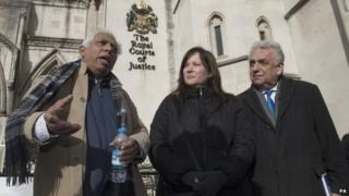 Petitioners Azmal Hussein, Angela Moffat and Andy Erlam