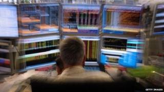Man at trading desk