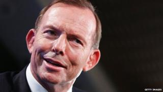 Tony Abbott speaks at the National Press Club on 2 February 2015 in Canberra, Australia