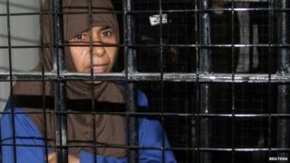 Sajida al-Rishawi in military court in Jordan. Photo: 2006