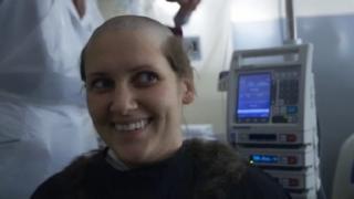sarah shaving her head