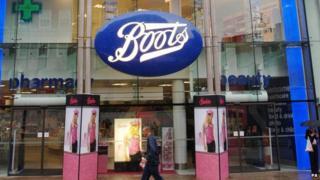 Boots shop front