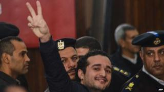 Ahmed Douma in court on day of life sentences against 230, 4 February 2015