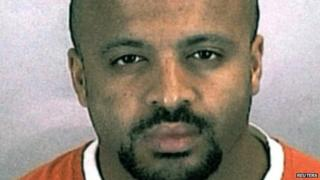 Zacarias Moussaoui, an inmate at a Colorado prison, is shown in this undated police photograph.