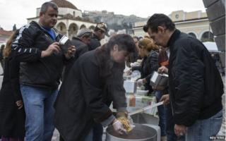 Soup kitchen in Athens