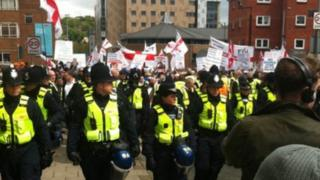 EDL in Luton march