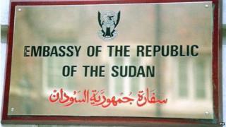 Sudan embassy sign