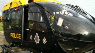 A Gwent Police helicopter