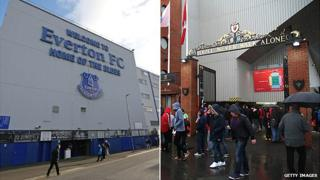 Goodison Park and Anfield stadiums