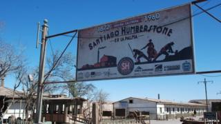 A sign at the entrance to Humberstone in December 2014