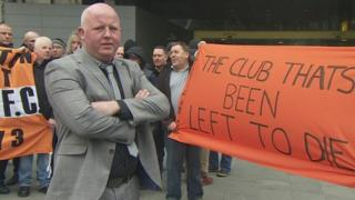 David Ragozzino and Blackpool fans
