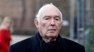 Michael Salmon arriving at Reading Crown Court in January