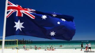 File image of heatwave at Glenelg beach, Adelaide, Australia. 13 January 2014