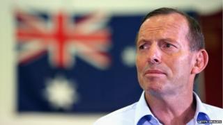 Australian Prime Minister, Tony Abbott looks on during a press conference held on 8 January 2015 in Adelaide, Australia.