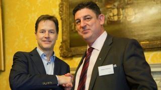 Nick Clegg and veteran SAS soldier Robert Paxman