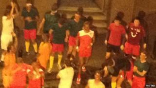 Blacked up footballers