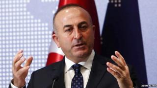 Turkish foreign minister Mevlut Cavusoglu said he withdrew from the joint session after the Israeli delegation was invited
