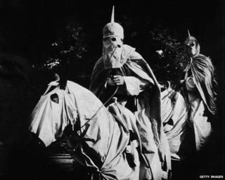 KKK horsemen in Birth of a Nation (1915)