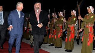 Prince Charles in Jordan