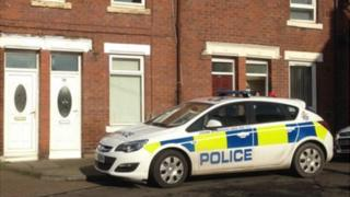 Police car outside house in Devonshire Street