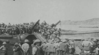 Photo of the Gallipoli Campaign from The Imperial War Museum