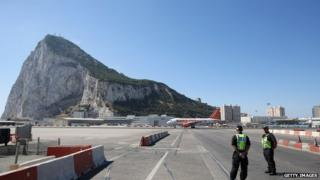 Gibraltar's runway (file picture from 7 August 2013)