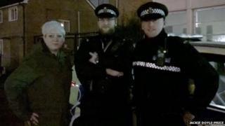Jackie Doyle-Price with police officers