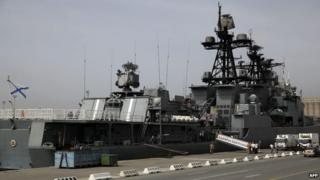 Russian anti-aircraft ship in Limassol, May 2013
