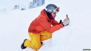Skier at instameet