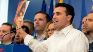 Zoran Zaev at press conference