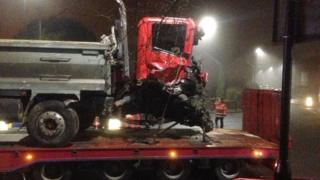 Lorry taken from scene of crash