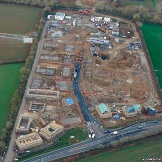 Construction work at NW Bicester site